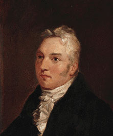 A painting of Samuel Taylor Coleridge staring intently to the left.